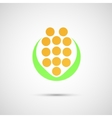 Creative icon of corn on a simple background vector image