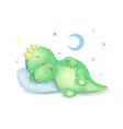Cute dinosaur sleeping