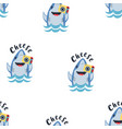 cute shark seamless pattern with photocamera vector image vector image