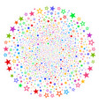 decoration stars cycle stream vector image vector image