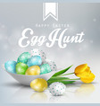 easter background with colored eggs vector image vector image