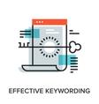 effective keywording vector image vector image