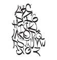 Expressive dynamic composition of a font vector image vector image