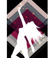 female silhouette on an abstract background vector image vector image