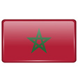 Flags Morocco in the form of a magnet on vector image vector image