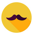 Flat Design Mustache Circle Icon vector image vector image