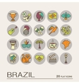 Flat icons Brazil 9 vector image