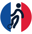 football icon on French flag vector image vector image