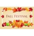 Fun Fall Festival Invitation Flyer vector image