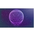 futuristic abstract glowing vector image vector image