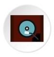 Gramophone icon flat style vector image
