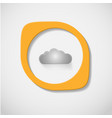 gray cloud on a white background vector image