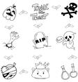 Halloween doodle art element vector image vector image