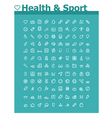 Healthcare and sport icon set vector image vector image