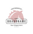 horse hand drawn logo isolated on white background vector image vector image