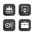 Human resources and Business Presentation board vector image vector image