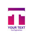 initial letter t logo template colorful square vector image vector image