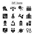 ivf in vitro fertilization icon set vector image vector image