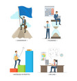 leadership and planning on vector image vector image