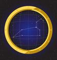 leo star horoscope zodiac in fish eye vector image vector image