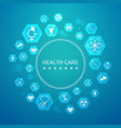 light health care round concept vector image