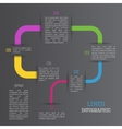 Lines infographic vector image