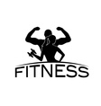 man and woman of fitness silhouette character vector image vector image