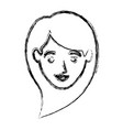 monochrome blurred silhouette of smiling woman vector image vector image