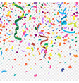 new colorful abstract background with many falling vector image vector image