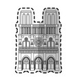 notre dame cathedral paris icon image vector image vector image