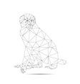 origami brown monkey vector image vector image