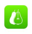 pear icon digital green vector image