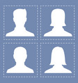 people profile silhouettes in white color vector image vector image