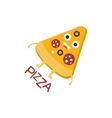 Pizza Slice Word And Corresponding vector image