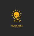 quick idea logo vector image