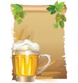 Retro beer background vector image