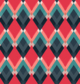 retro red rhombus seamless pattern vector image vector image