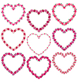 rose heart frames vector image vector image