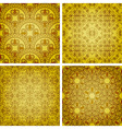 seamless golden patterns vector image