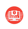 security warning alert icon vector image vector image