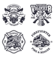 Set firefighter emblems