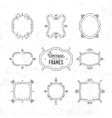 Set of 9 cute vintage frames vector image