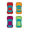 set of four cars flat vector image vector image