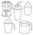set of smoothie vector image vector image