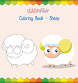 Sheep coloring book educational game vector image vector image