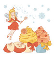 sweet fairy merry christmas vector image vector image