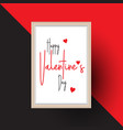 valentines day frame background vector image vector image