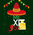 viva mexico celebration vector image vector image