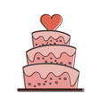 wedding big cake vector image vector image