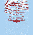 winter banner with snow-covered branches of tree vector image vector image